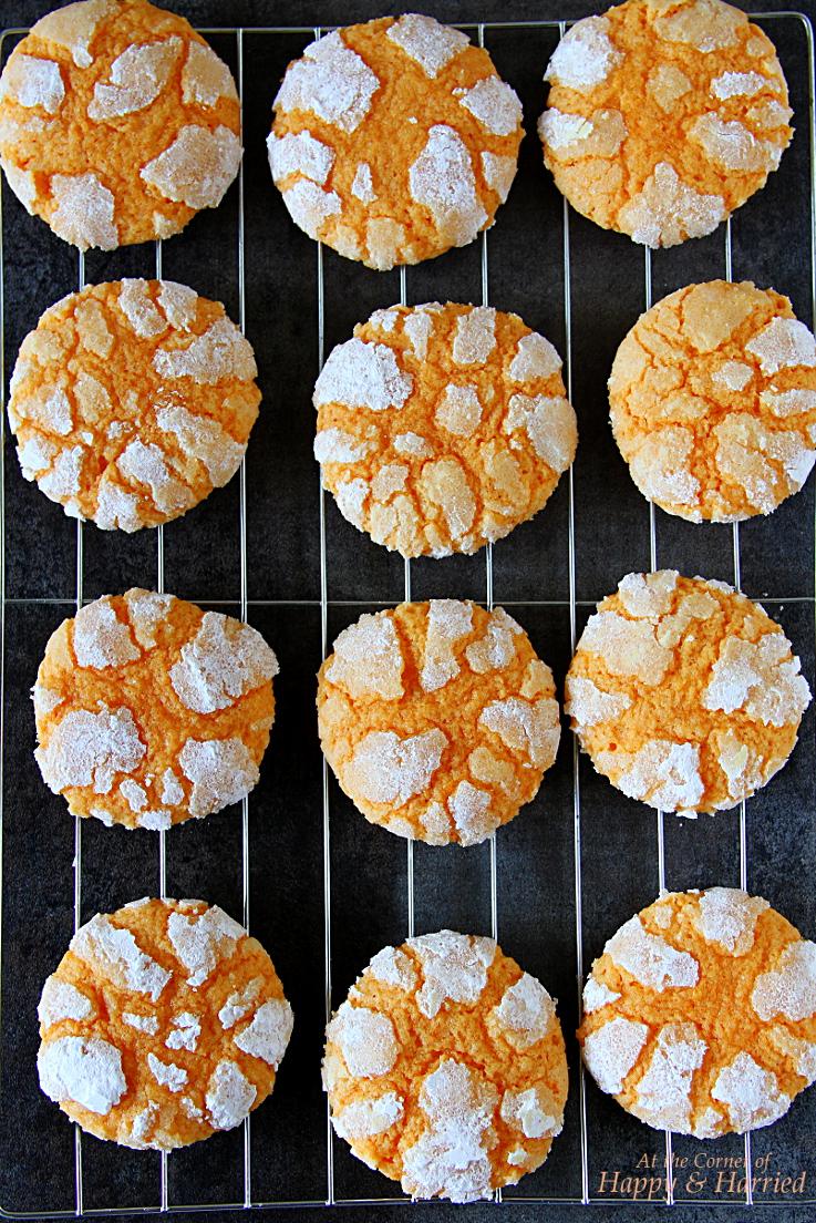 Sunny Orange Crinkle Cookies