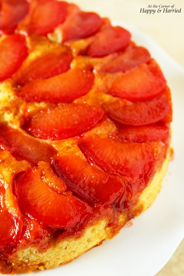 Upside Down Plumcot Fruit Cake
