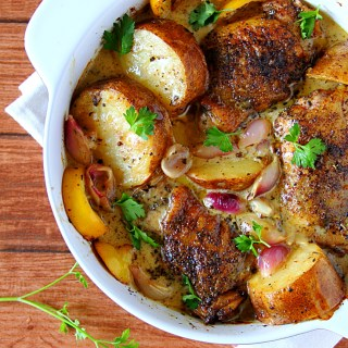 Chicken & Potatoes In Creamy Lemon Sauce