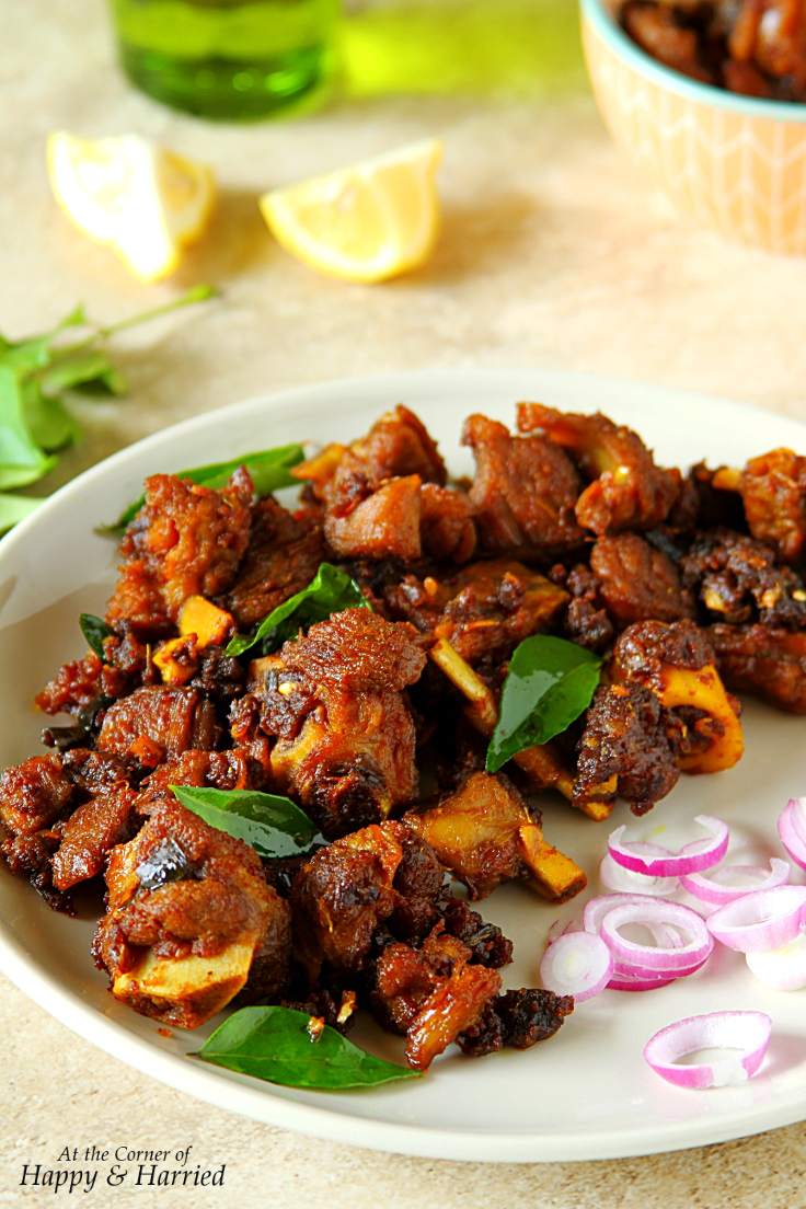 MUTTON CHUKKA VARUVAL {SOUTH INDIAN MUTTON FRY}