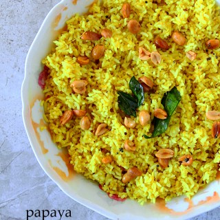 Papaya-Mango Yellow Rice