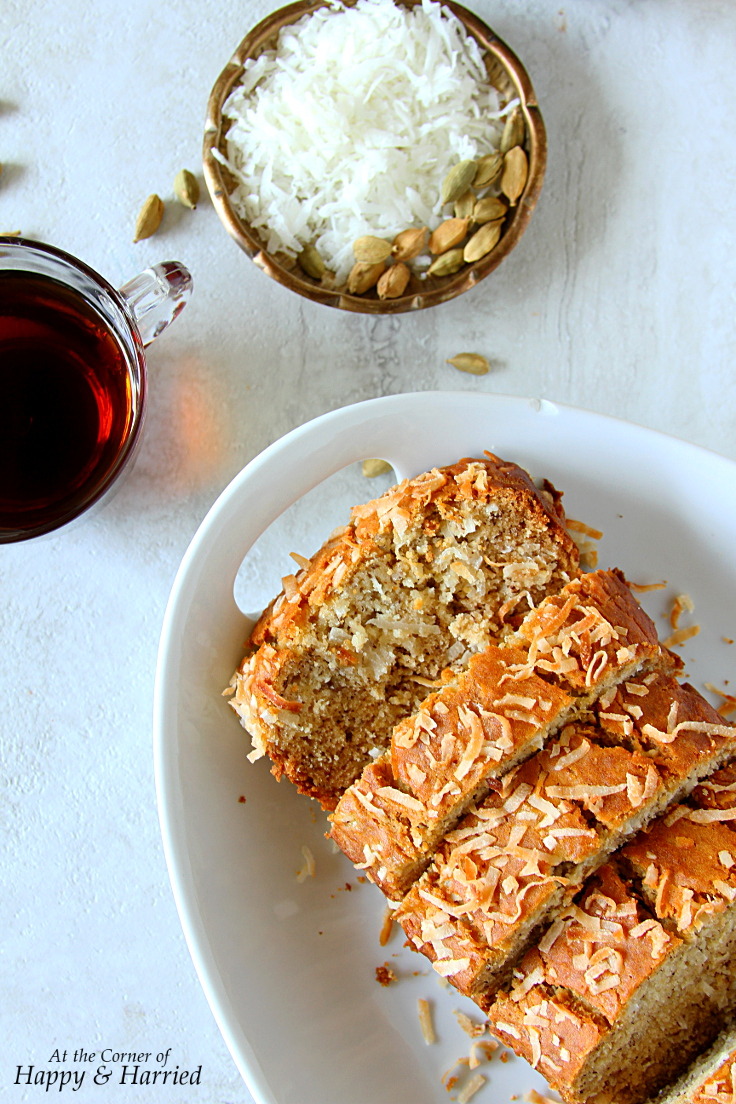 Simple Gluten Free Banana-Coconut Bread {Made With Rice Flour}