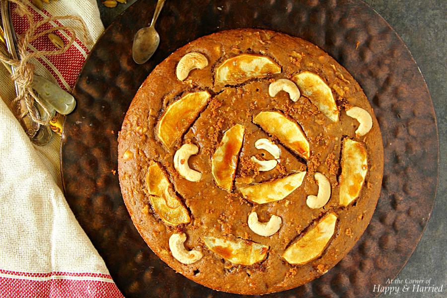 Apple Cinnamon Cashew Nut Cake