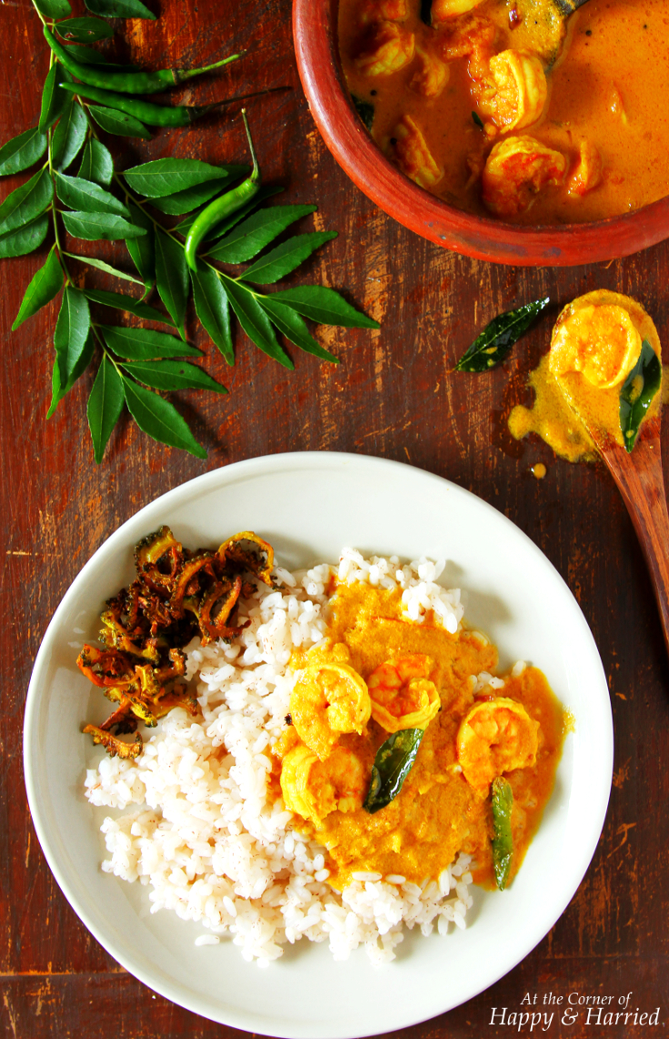 Shrimp Coconut Curry {Kerala Style Chemmeen Curry}