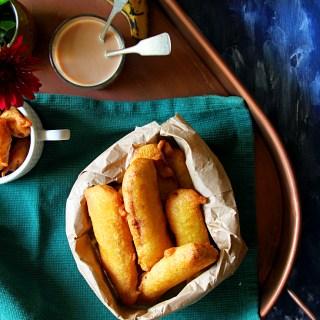 Pazham Pori [Ripe Plantain Fritters}