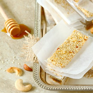 Pasteli {Greek Sesame, Nuts & Honey Bars}