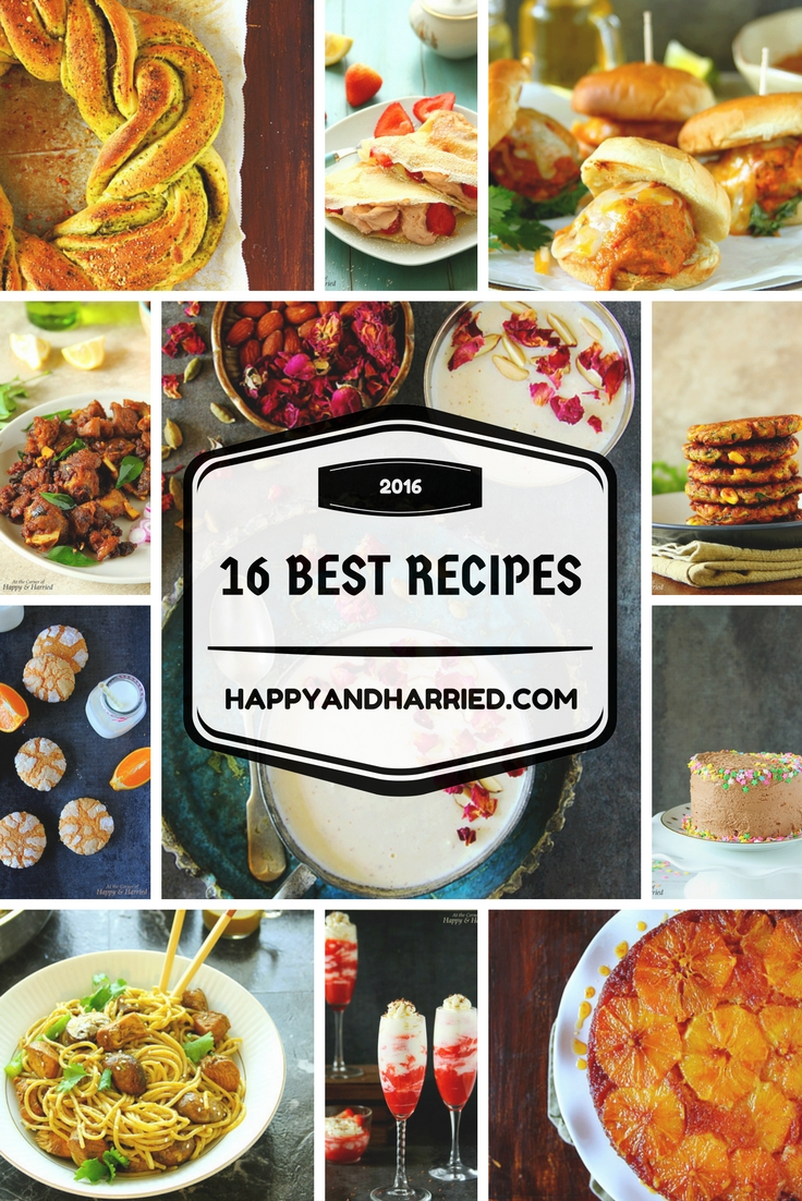Top 16 Of 2016 - A Recipe Roundup