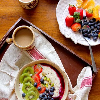 Semolina Porridge, Fruit & Nut Breakfast Bowl