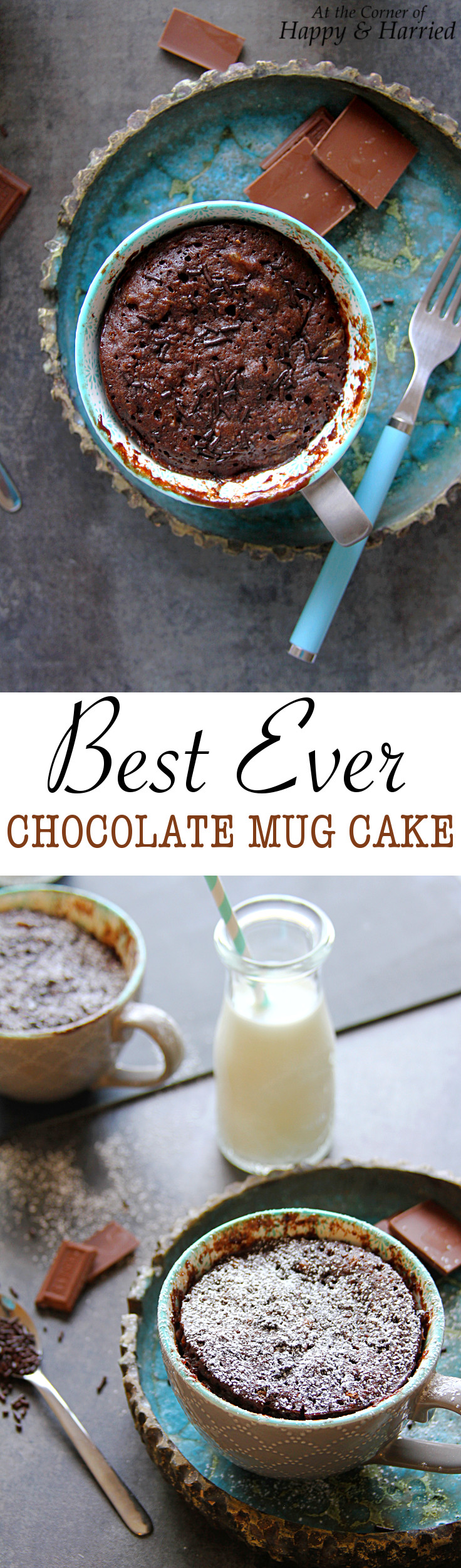 BEST EVER CHOCOLATE MUG CAKE - HAPPY&HARRIED