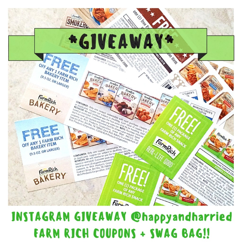 INSTAGRAM GIVEAWAY (FARM RICH COUPONS + SWAG BAG) - HAPPYANDHARRIED