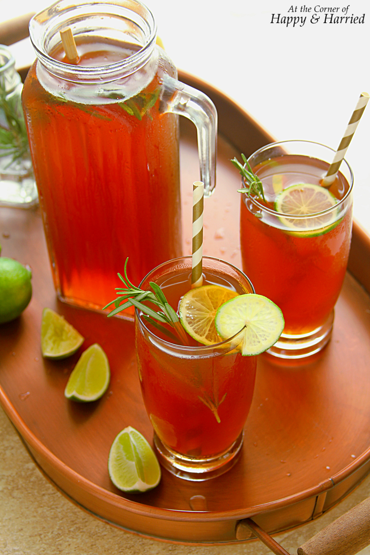 ROSEMARY, LIME & JAGGERY ICED TEA - HAPPY&HARRIED