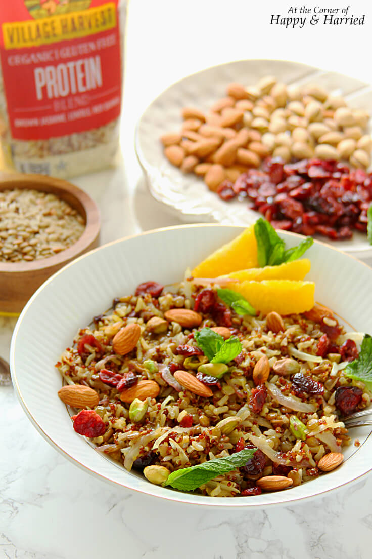 VEGAN PROTEIN-PACKED PERSIAN JEWELLED PILAF - HAPPY&HARRIED
