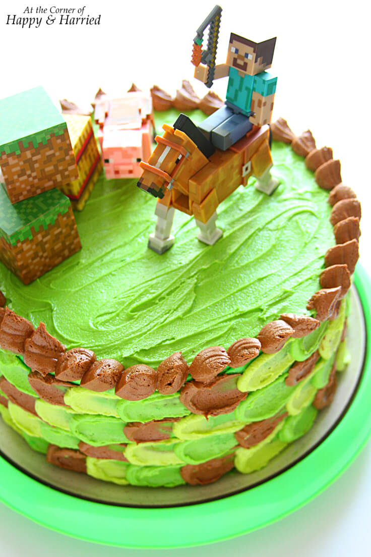Peachy Minecraft Themed Birthday Cake Personalised Birthday Cards Veneteletsinfo