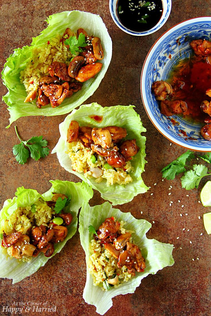 Thai Chicken & Fried Rice Lettuce Wraps