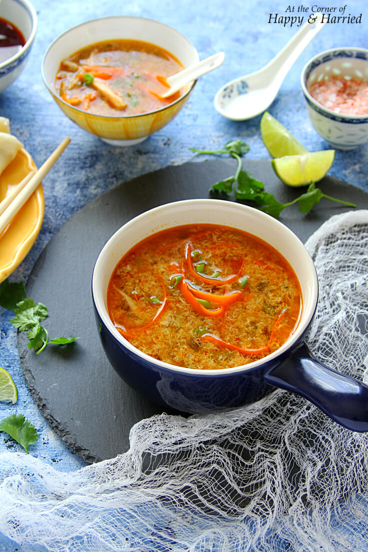 CHINESE HOT & SOUR SOUP - HAPPY&HARRIED