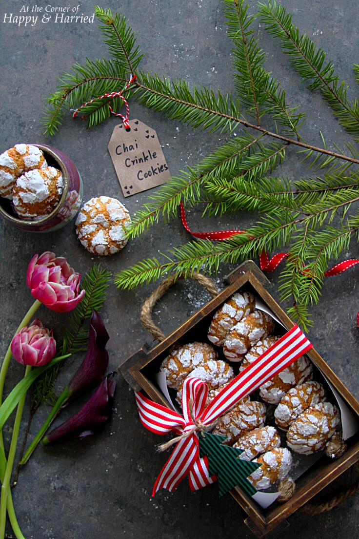 Chai Tea Crinkle Cookies