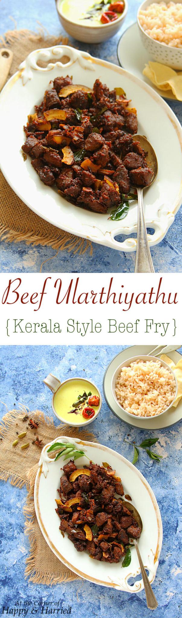 BEEF ULARTHIYATHU - KERALA STYLE BEEF FRY - HAPPY&HARRIED