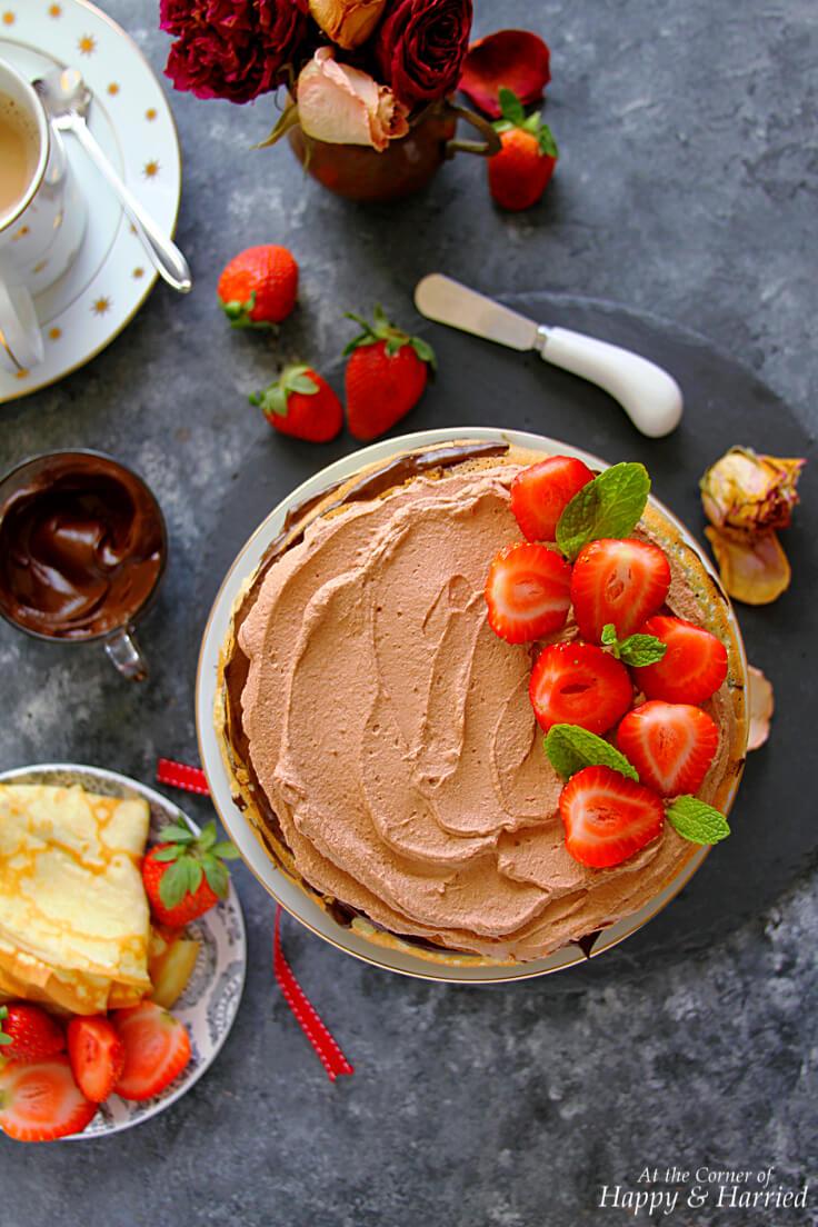 Mocha Chocolate Crepe Cake