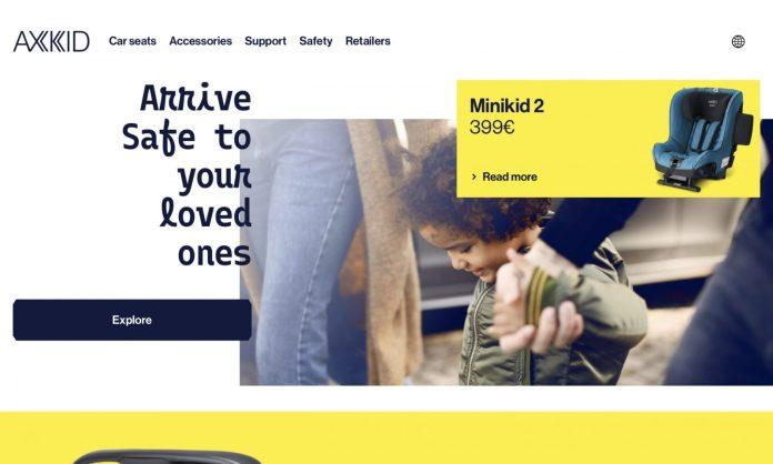 Screenshot der Marke Axkid
