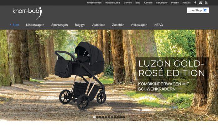 Screenshot der Marke Knorr-Baby