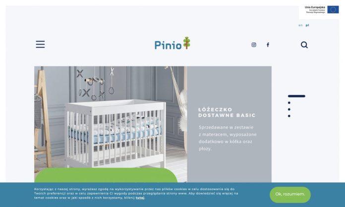 Screenshot der Marke Pinio