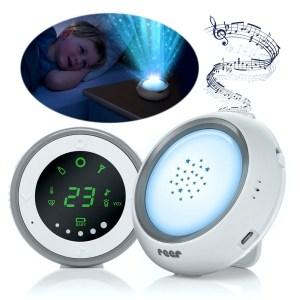 Ein Nachtlicht, Musik und Sternenhimmel-Projektor sind nur drei der zahlreichen Features dieses Babyphones der Marke Reer.