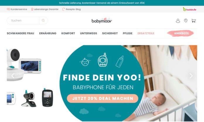 Screenshot der Marke Babymoov