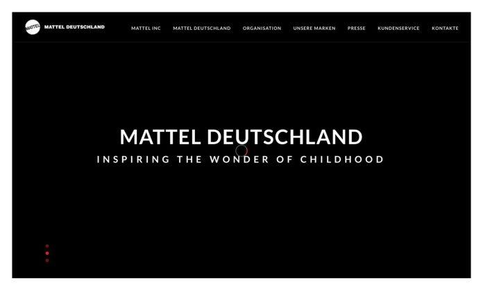 Screenshot der Marke Mattel
