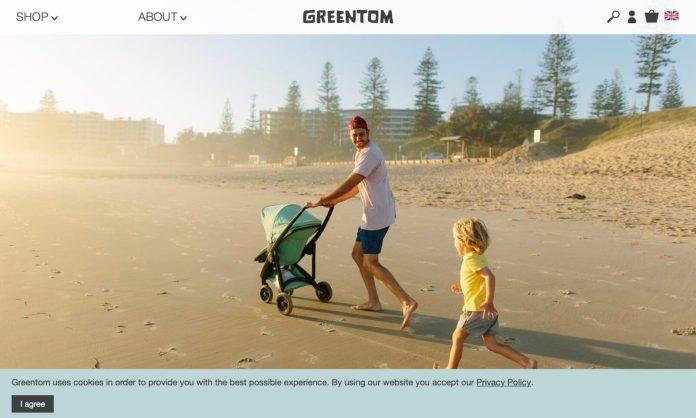 Screenshot der Marke Greentom