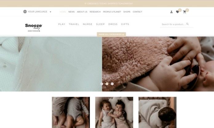 Screenshot der Marke Snoozebaby