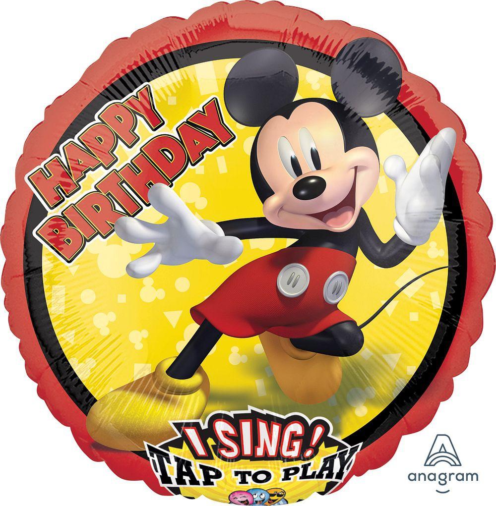 Musikballon Happy Birthday Singende Micky Maus 71cm Happy Balloon
