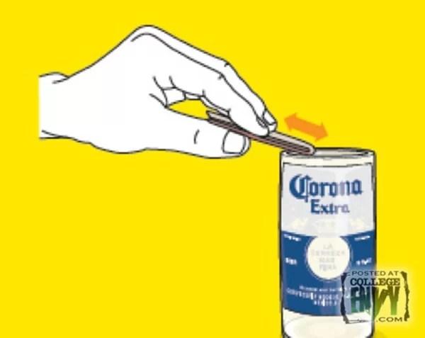 polir bouteille1 Fabriquez de jolis verres avec des bouteilles de bière usagées !
