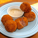 Reuben Fritters with Honey Mustard Sauce