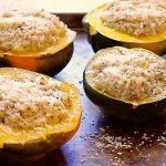 Pressure Cooker Stuffed Acorn Squash