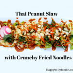 Thai Peanut Slaw with Crunchy Fried Noodles