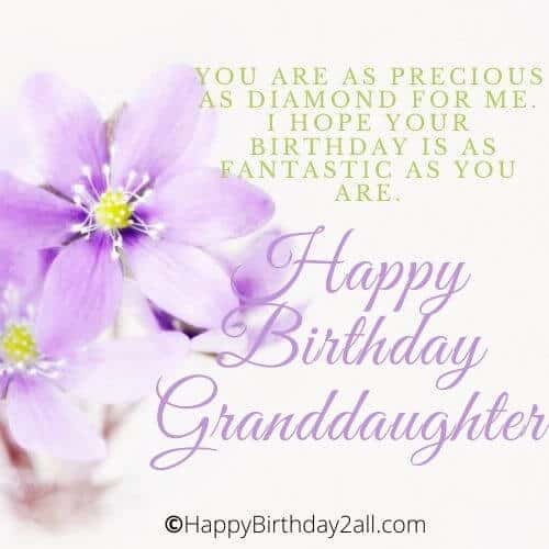 Happy Birthday Wishes For Granddaughter Greetings Quotes