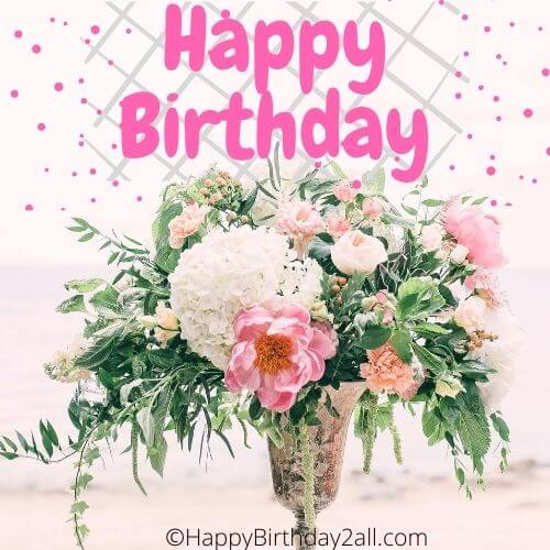 Happy Birthday With Roses Bday Wishes Quotes With Roses