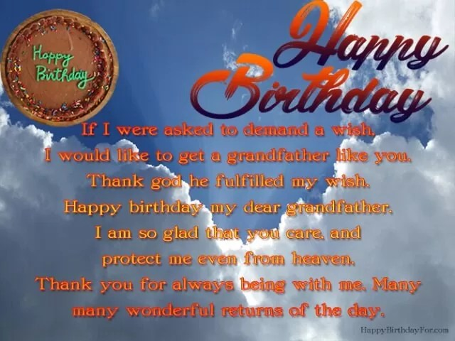 Birthday Wishes For Grandpa Who Passed Away In Heaven 99 Msg