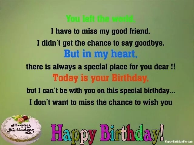 Happy Birthday Wishes For Best Friends In Heaven 25 Messages