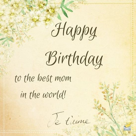 Happy Birthday wish for my mother on retro image