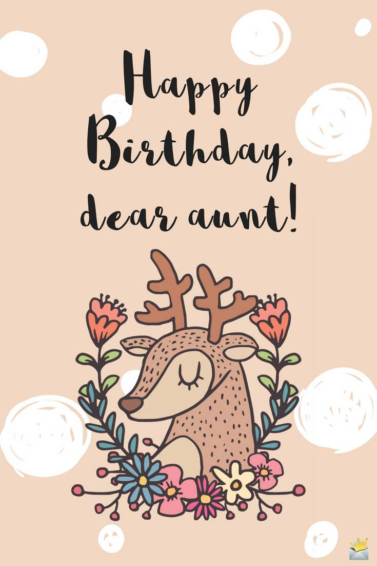 Happy Birthday Auntie Sweet And Cute Wishes For Her