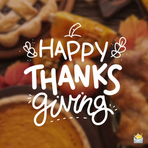 Happy Thanksgiving image to share on chats and posts.