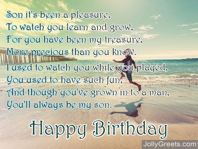 Happy Birthday Poems For Son