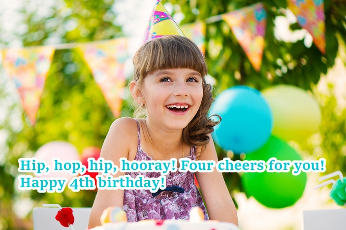Cute 4th Birthday Wishes For Daughter