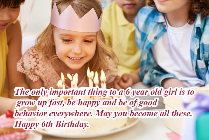 Birthday wishes for 6th Year Old Kids