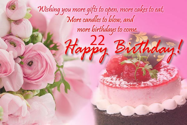Top 100 Happy 22nd Birthday Wishes For Girl & Boy