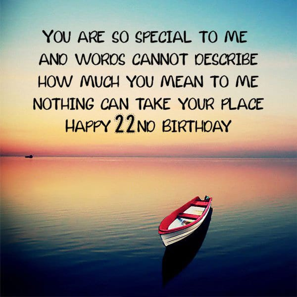22nd Birthday love messages