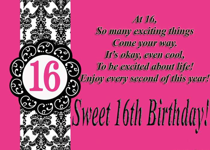 Happy Sweet 16 Birthay Wishes For Boy