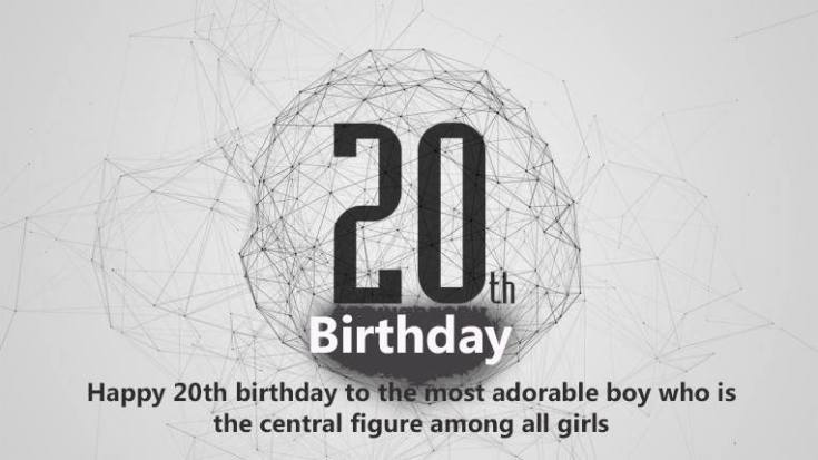Top 100 Happy 20th Birthday Wishes For Girl Boy