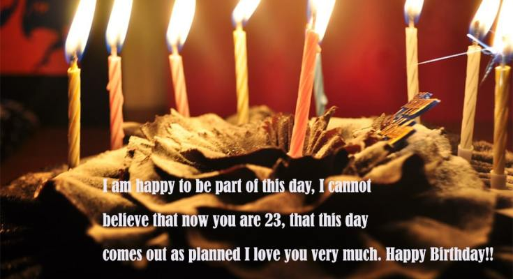 Happy 23st Birthday Wishes Messages